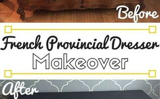 vintage french provincial dresser makeover diy chalk paint recipe, chalk paint, how to, painted furniture