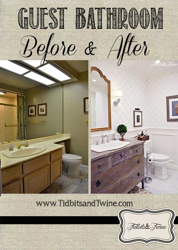 guest bathroom makeover before after  bathroom ideas  home improvement  painted furniture  repurposing. Guest Bathroom Makeover  Before  amp  After    Hometalk