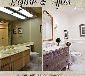 guest bathroom makeover before after bathroom ideas home improvement painted furniture repurposing