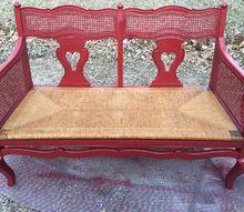 repainted settee, painted furniture