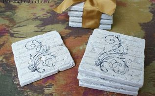 diy stamped coasters, crafts, how to, living room ideas