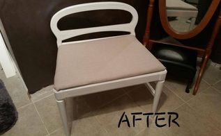 new life for an old chair, painted furniture, reupholster