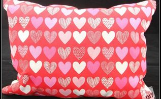 valentine s day no sew pillow, crafts, how to, seasonal holiday decor, valentines day ideas