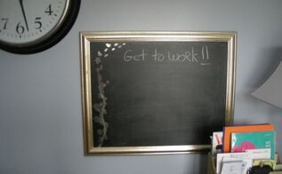 transform an old picture into fancy chalkboard with paint and decals, chalkboard paint, crafts, repurposing upcycling