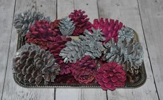 diy glittered pinecones for valentine s day, crafts, seasonal holiday decor, valentines day ideas