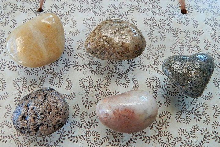 DIY-Beach Stone Cabinet Knobs