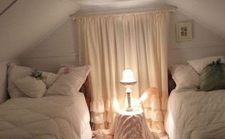 shabby chic vintage finished attic bedroom, bedroom ideas, repurposing upcycling, shabby chic