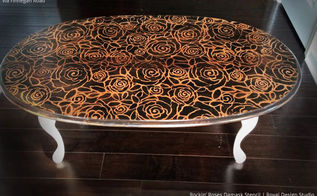 4 out of the box stenciled table top ideas, chalk paint, home decor, painted furniture