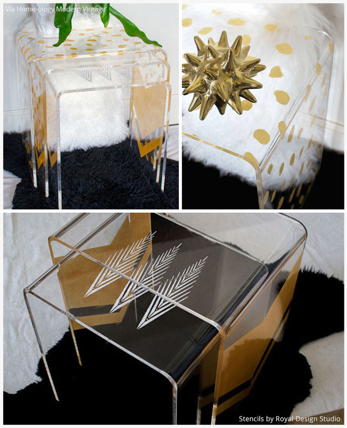 4 Out Of The Box Stenciled Table Top Ideas Hometalk