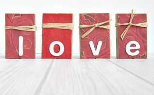 repurposed game blocks to valentine decorations, crafts, decoupage, how to, repurposing upcycling