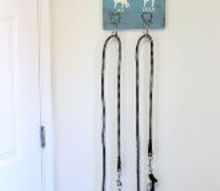 diy dog leash holder, chalk paint, crafts, painting, pets animals, woodworking projects