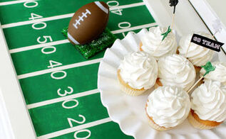 super bowl football field party tray, crafts, doors, how to, repurposing upcycling, seasonal holiday decor