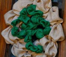 st patricks day shamrock burlap wreath, crafts, how to, seasonal holiday decor, wreaths