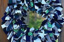 school spirit rag wreath, crafts, how to, wreaths