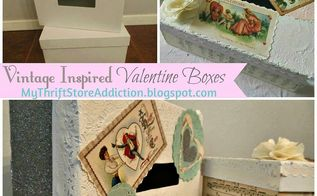 diy vintage inspired valentine boxes, crafts, how to, repurposing upcycling, seasonal holiday decor, valentines day ideas