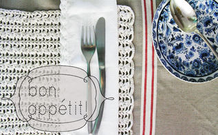 diy french table linen, crafts, dining room ideas