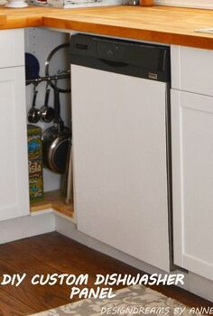 easy diy dishwasher panel, appliances, how to, kitchen cabinets