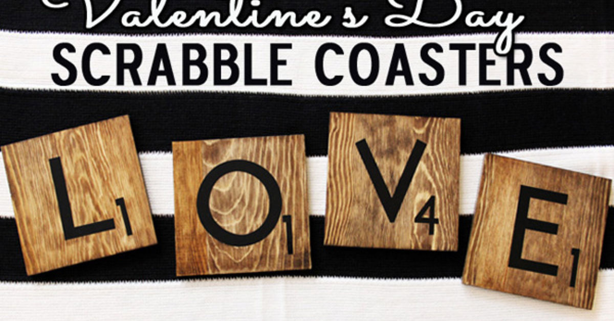 L O V E Scrabble Tile Coasters Hometalk