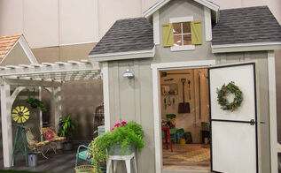 vintage potting shed, gardening, outdoor living, pallet, repurposing upcycling, Vintage Potting Shed
