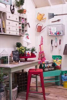 vintage potting shed, gardening, outdoor living, pallet, repurposing upcycling