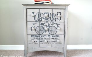 vintage bicycle ad painted side table, chalk paint, how to, painted furniture