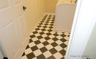 painting linoleum floors, flooring, how to, laundry rooms, painting, tile flooring