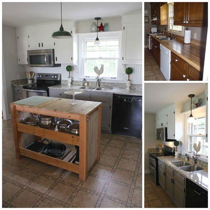 Diy farmhouse kitchen makeover for 5000 including for Diy small kitchen remodel