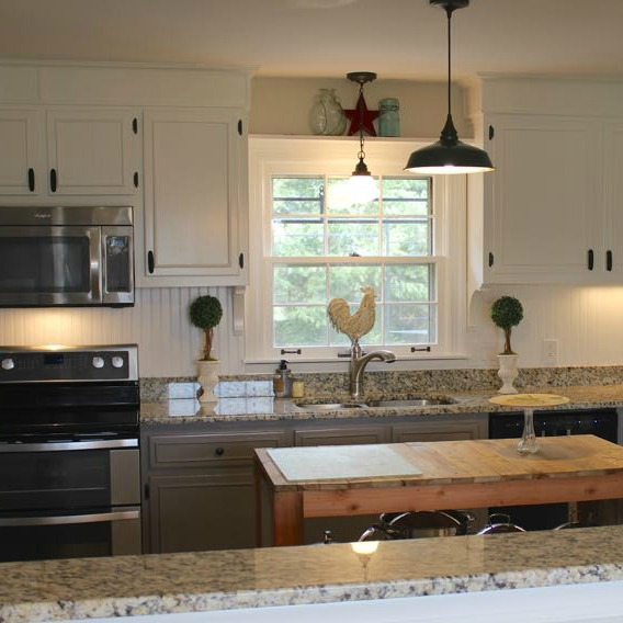 Diy farmhouse kitchen makeover for 5000 including for Remodel a kitchen for under 5000