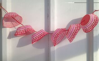 valentine s day cupcake cup banner craft for kids, crafts, repurposing upcycling, seasonal holiday decor, valentines day ideas