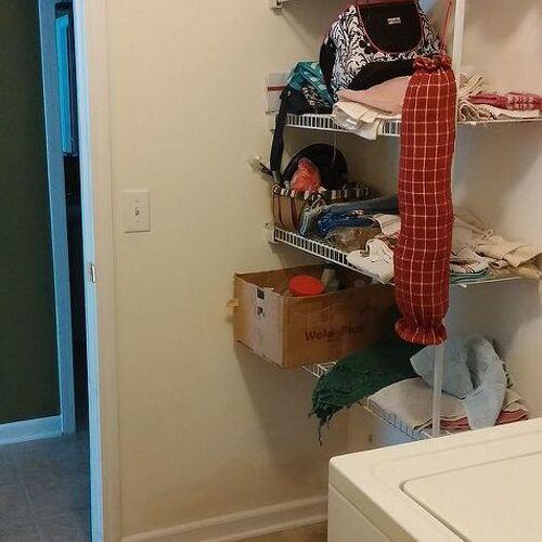Beginning left side of laundry room