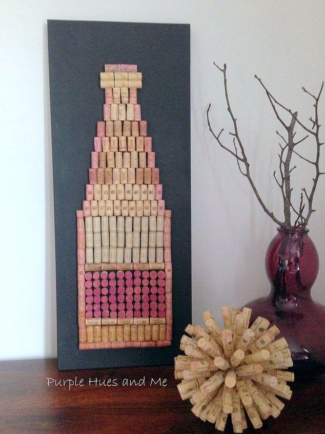 Diy cork wine bottle wall hanging hometalk for Wall decor wine bottles