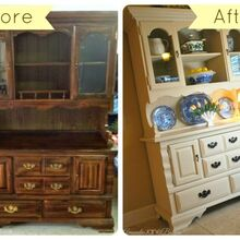 craigslist hutch makeover with chalk paint, chalk paint, painted furniture