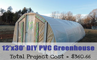 12 x30 diy pvc greenhouse for 360, container gardening, gardening, go green, homesteading