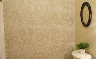 starched fabric wall, bathroom ideas, painting, small bathroom ideas, reupholster, wall decor