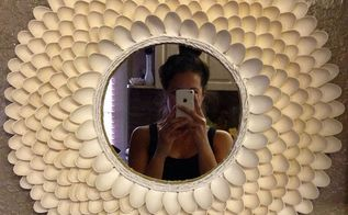 plastic spoon sunburst mirror, crafts, repurposing upcycling, wall decor