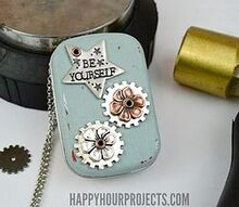 recycled mint tin music box, chalk paint, crafts, how to, repurposing upcycling, seasonal holiday decor, valentines day ideas