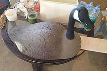 painted ugly duckling to beautiful swan, crafts, how to, painting, Plastic Canadian Goose