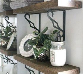 diy rustic bathroom shelves hometalk