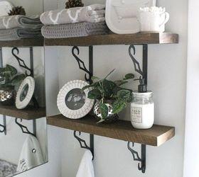 Diy Rustic Bathroom Shelves, Bathroom Ideas, Shelving Ideas