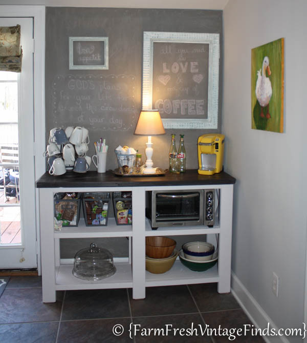 Coffee Bar Inspired By Ana White on Diy Woodworking Projects