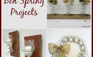 repurposed bed spring projects, crafts, repurposing upcycling, wall decor, wreaths