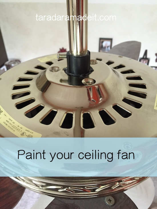 Paint Ceiling Fan : Paint your ceiling fan without removing it from the