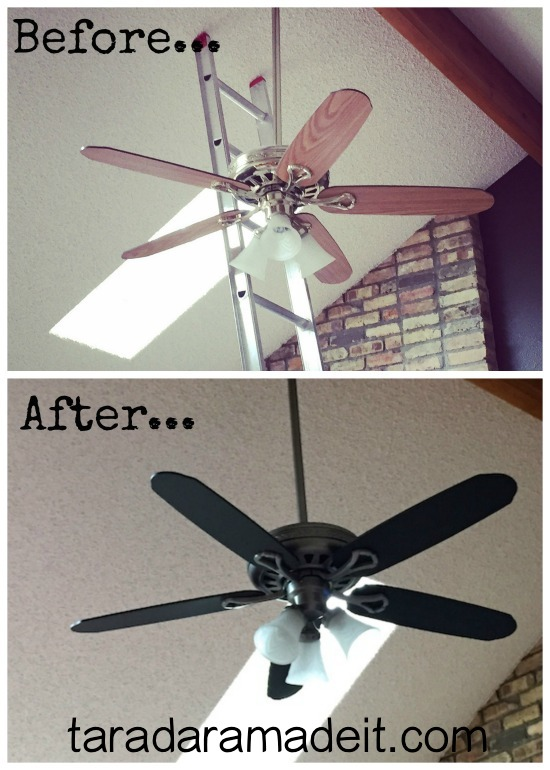 Paint your ceiling fan without removing it from the for How much to paint a ceiling
