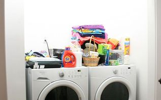 budget laundry room makeover, home improvement, laundry rooms, organizing, shelving ideas, storage ideas