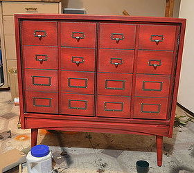 Faux Card Catalogue Apothecary Cabinet, How To, Living Room Ideas, Painted  Furniture,