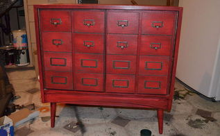 faux card catalogue apothecary cabinet, how to, living room ideas, painted furniture, repurposing upcycling