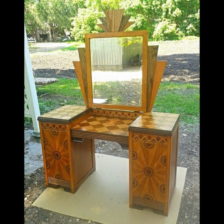 A Properly Restored Antiquated Deco Vanity Hometalk