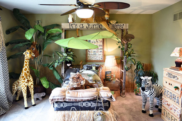 jungle themed bedroom  bedroom ideas  home decor  repurposing upcycling   wall decor. Jungle Themed Bedroom   Hometalk