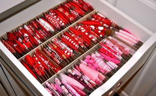 organizing ribbon in craft room, craft rooms, crafts, organizing, storage ideas