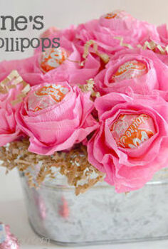 valentine rose lollipops, crafts, how to, seasonal holiday decor, valentines day ideas